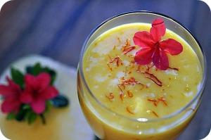 saffron - green mango saffron smoothie