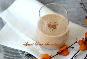 Spiced Pear Smoothie