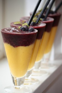 Layered Blueberry and Mango Smoothie